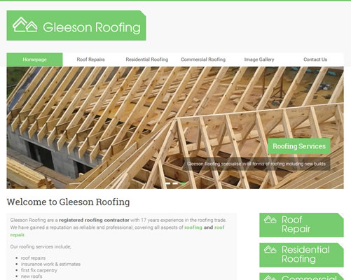 Web Design Clare for Colm Gleeson Roofing