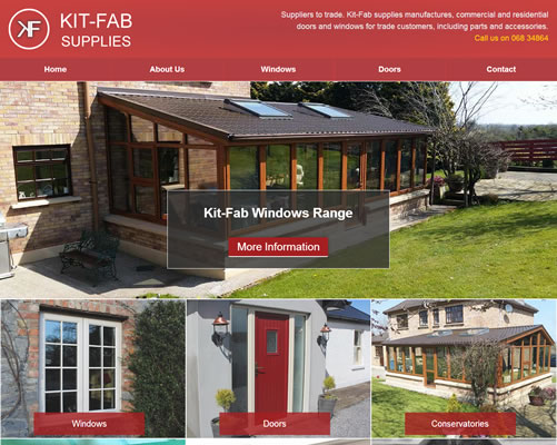 Website Design for Kitfab Supplies